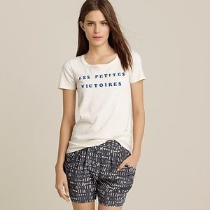 "J Crew ""little victories"" T-shirt."